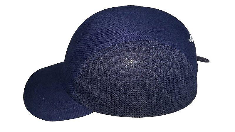 Boné Têxtil de Segurança Azul com Casquete