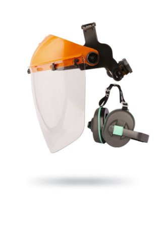 Kit Ferramenta de Corte: Abafador + Protetor Facial + Suporte