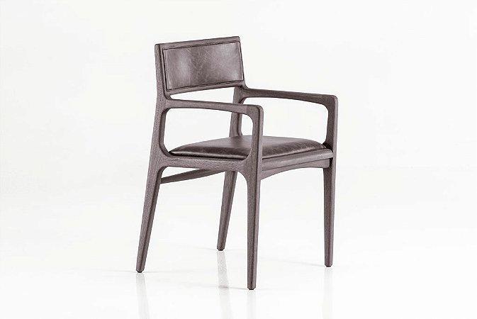 Cadeira Marina com braço (Couro)
