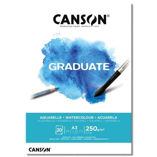 Bloco Canson Graduate Aquarela A3 250g - 20 Folhas