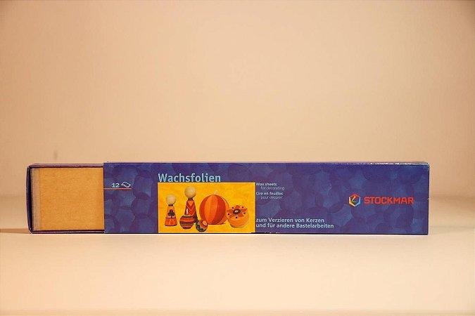 Cera para modelar velas - 12 unidades douradas
