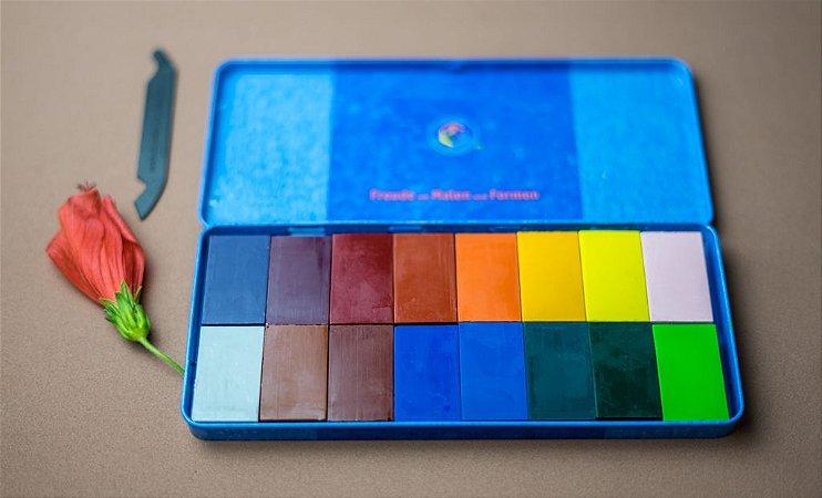 Lata com blocos Stockmar - 16 cores