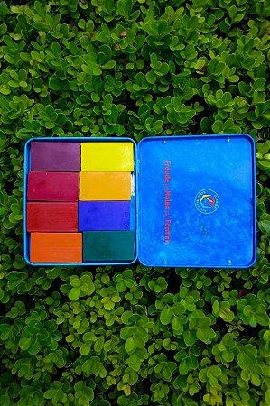 Lata com blocos Stockmar - 8 cores