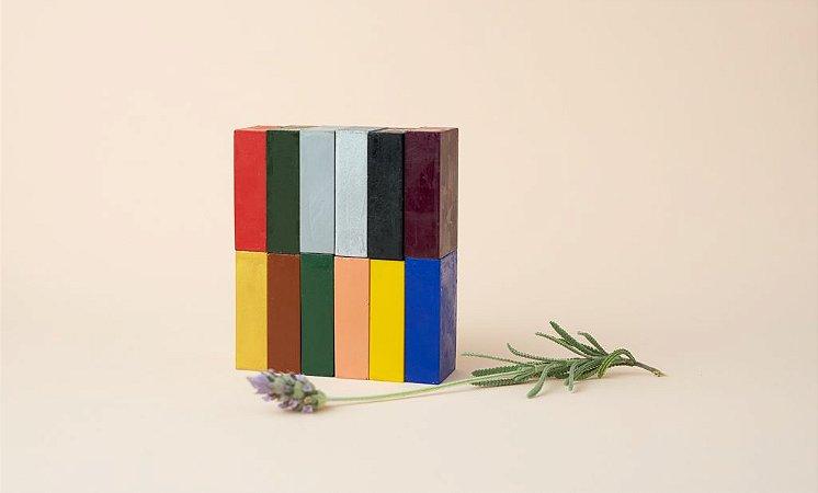 Giz de cera bloco Stockmar - cores complementares