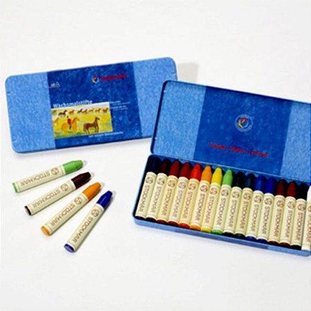 Lata com bastões Stockmar - 16 cores