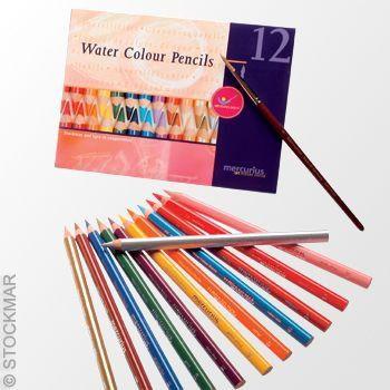 Lápis grosso aquarelável Stockmar - 12 cores