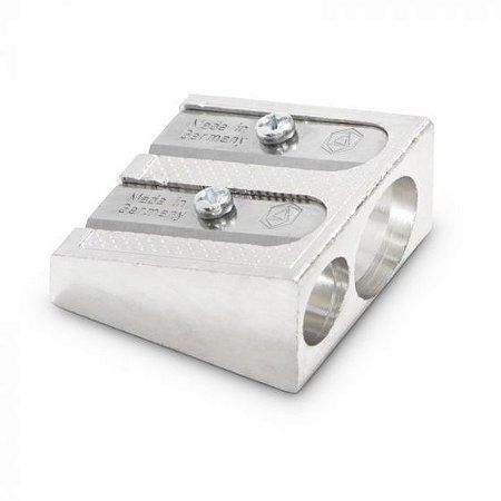 Apontador de metal para lápis fino e grosso