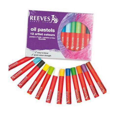 Giz Pastel Oleoso Reeves - 12 cores