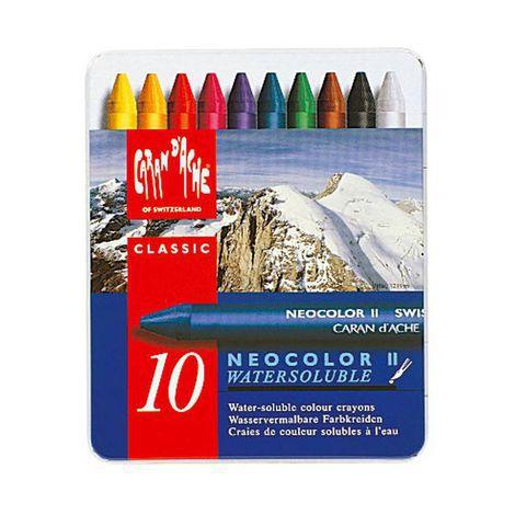 Giz pastel aquarelável Neocolor II Caran d'Ache - 10 cores