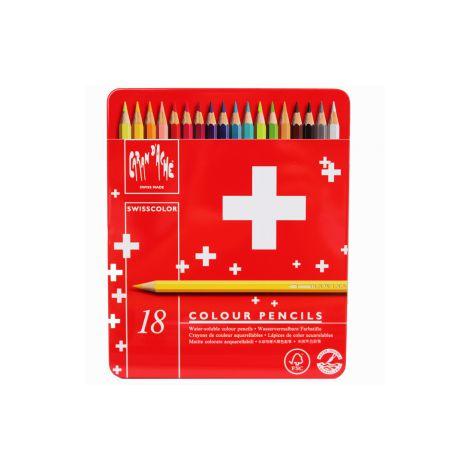 Lápis aquarelável Caran d'Ache Swisscolor - 18 cores
