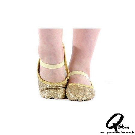 Sapatilha Glitter de Ballet Dourado - QueenslandStore