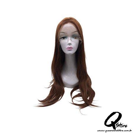 Peruca Lace Front Top Hair-Longa  Cor Ruiva#