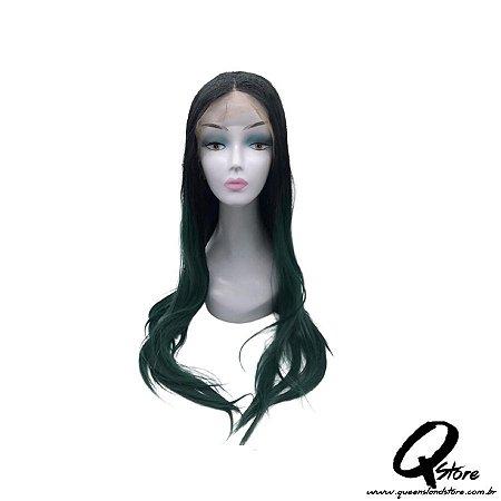 Peruca Lace Front Top Hair-Longa  Cor Preto/Verde#