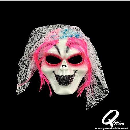 Máscara Plástica Noiva Terror - Halloween