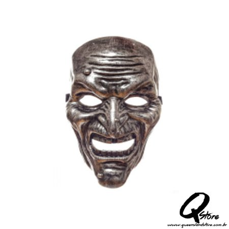 Máscara Bruxa Metalizada -Plástico