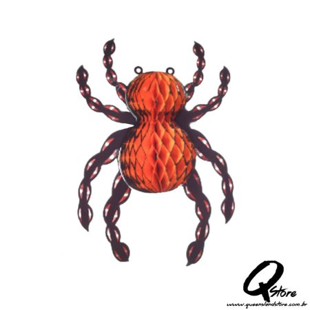 Enfeite de Papel Sanfona 31 cm - Aranha