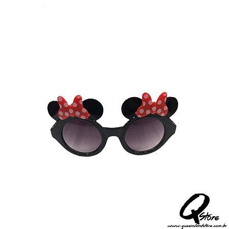 Óculos Minnie Preto c/ Lente Plástico- Infantil