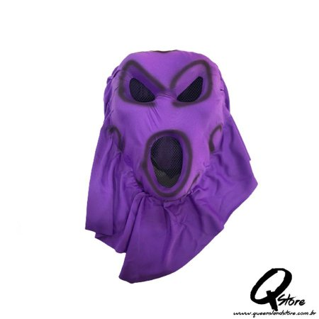 Máscara Ghost Airsoft Roxo Adulto -Plástico