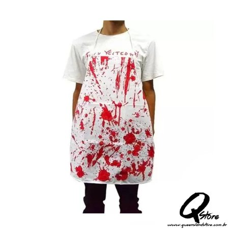 Avental Sangue Halloween- Tamanho Único