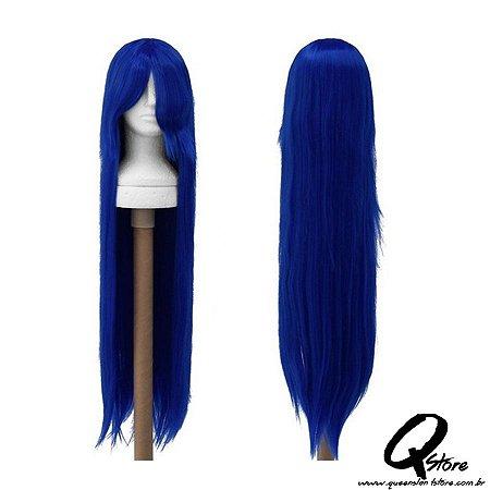 Peruca Sintética Modelo Cosplay Longa- Cor Azul Escuro