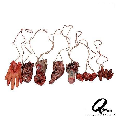 Cordão Órgãos Decoração Halloween Sortido - Unidade