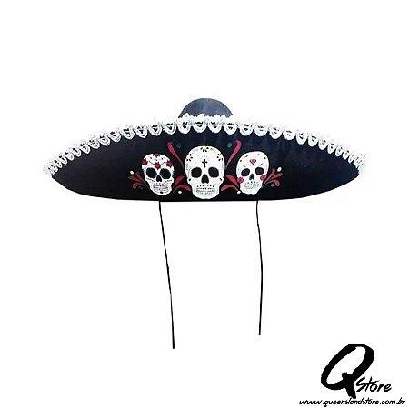 Chapéu Sombrero Mexicano -Caveira