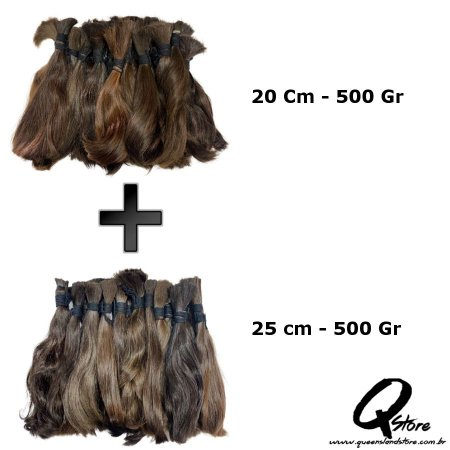 Cabelo Natural Brasileiro 20/25cm - Lote 1 Kg