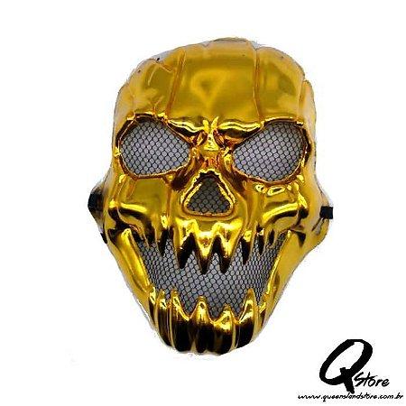 Máscara Caveira Ouro