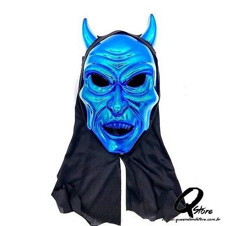 Máscara Diabo Azul c/ Capuz