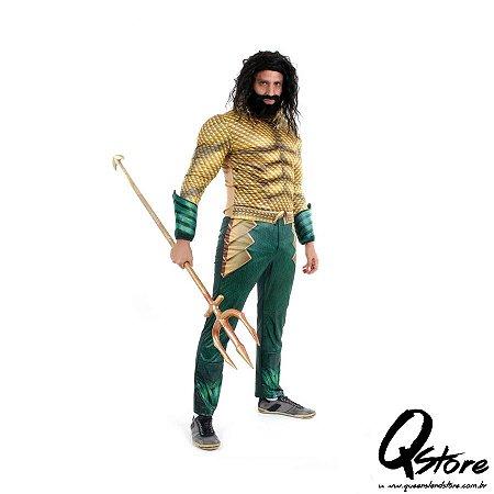 Fantasia Aquaman Clássico Adulto - DC Aquaman