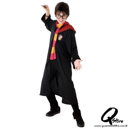 Fantasia Harry Potter Grifinória Infantil