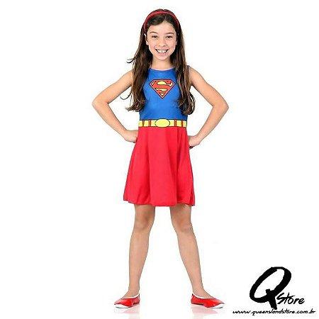 Fantasia Super Mulher Super Pop Infantil