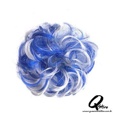 Xuxa Sintética c/ 10 unidades  Cor- Azul/Branco