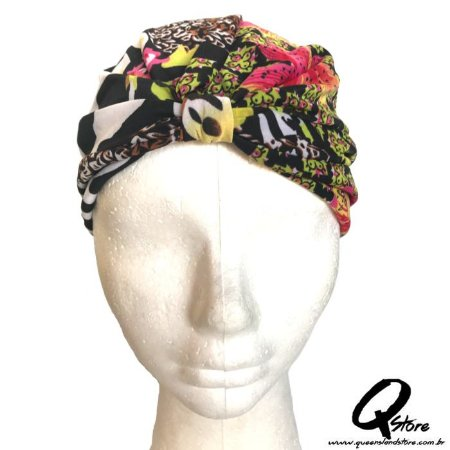 Turbante Liso Estampando - Modelo 1