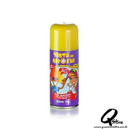 Tinta Spray Colorida para Cabelo - Amarela