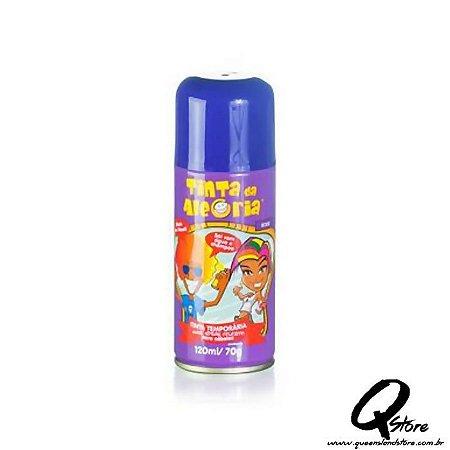 Tinta Spray Colorida para Cabelo - Roxo