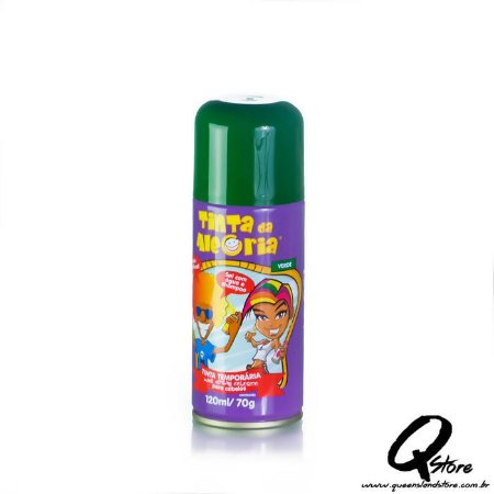 Tinta Spray Colorida para Cabelo - Verde