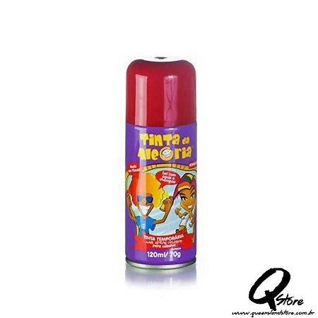 Tinta Spray Colorida para Cabelo - Vermelho
