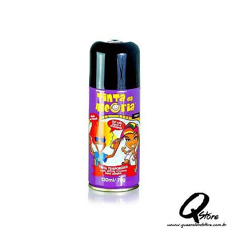 Tinta Spray Colorida para Cabelo - Preto
