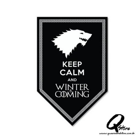 Placa Decorativa 30x16 Keep Calm and Winter is Coming