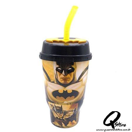 Copo do Batman c/ Tampa e Canudo- 500ml