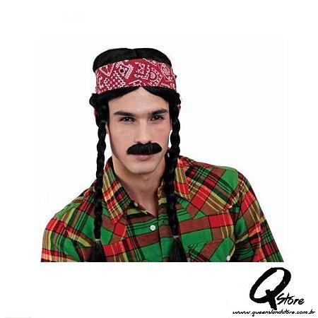 Peruca Hippie c/ Bigode