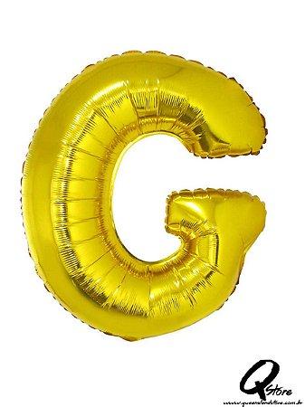 Balão Metalizado Dourado Letra G- 41cm