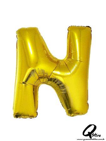 Balão Metalizado Dourado Letra N- 41cm