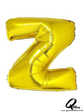 Balão Metalizado Dourado Letra Z- 41cm