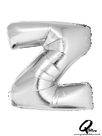 Balão Metalizado Prata Letra Z- 41cm