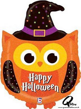 """Balão Metalizado Halloween Owl - Grabo Intl - 32"""" (Aprox. 81 cm)"""