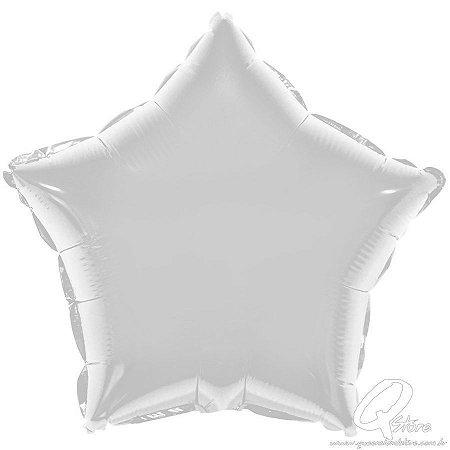 Balão Metalizado Estrela Prata - Grabo