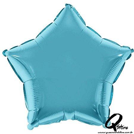Balão Metalizado Estrela Azul - Grabo