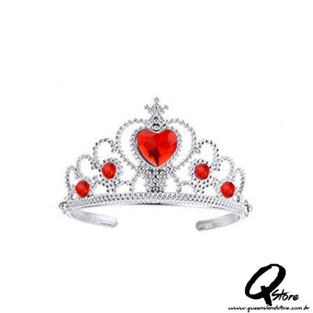 Tiara Arco Princesa -Vermelha